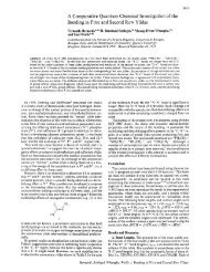 A Comparative Quantum Chemical Investigation of the Bonding in ...