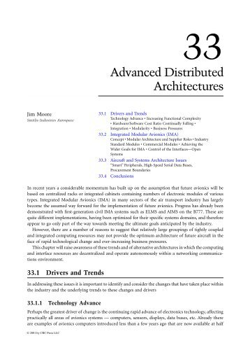 Advanced Distributed Architectures