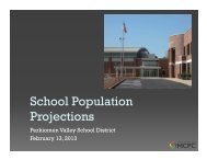 School Population Projections - Perkiomen Valley School District