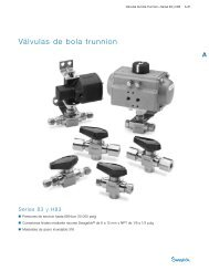 Válvulas de Bola Trunnion: Series 83 y H83 (MS-01-166 ... - Swagelok