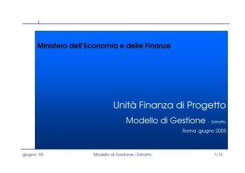 Modello di gestione dei rischi - UTFP