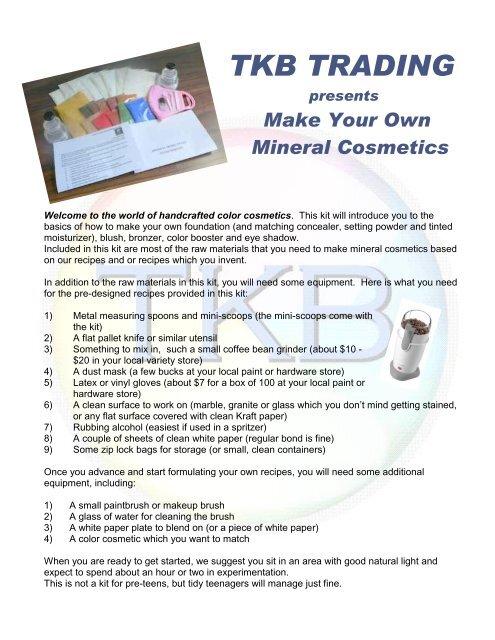 My Mineral Makeup Formulas - TKB Trading