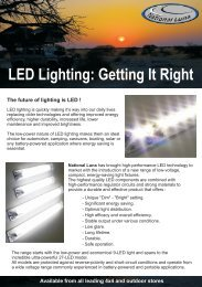 LED Lighting: Getting It Right - National Luna