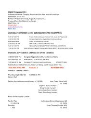 MASTER SCHEDULE CONGRESS May 16 - College of Arts and ...