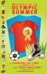 An OLYMPIC SUMMER – Champions Day Camp