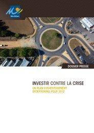 investir contre la crise - Conseil général du Morbihan