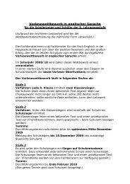 Vorlesewettbewerb in englischer Sprache - Schulen in Oberfranken