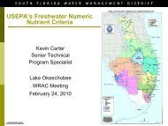 USEPA's Freshwater Numeric Nutrient Criteria - South Florida Water ...