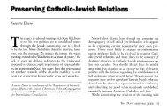 Preserving Catholic-Jewish Relations