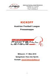 Pressemappe 2010 - American Football Bund Österreich
