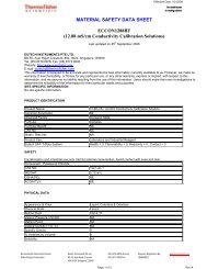 MATERIAL SAFETY DATA SHEET ECCON1288BT (12.88 mS/cm ...