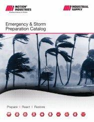 Emergency & Storm Preparation Catalog - Motion Industries