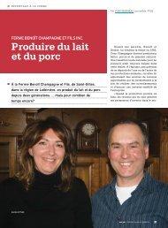 Produire du lait et du porc - Fédération des producteurs de lait du ...