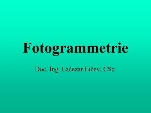 Fotogrammetrie