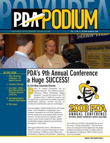 PDA's 9th Annual Conference a Huge SUCCESS! - Polyurea ...
