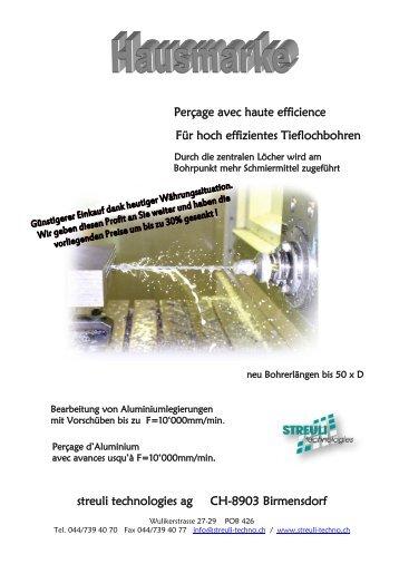 Tieflochbohren - Streuli Technologies AG