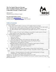 NRDC Tar Sands Threat to Europe Memo FINAL January 2014 FINAL