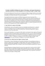 Procédure et modalités d'utilisation du commerce électronique pour ...