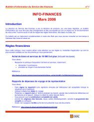INFO-FINANCES Mars 2006 - Service des finances - Université Laval