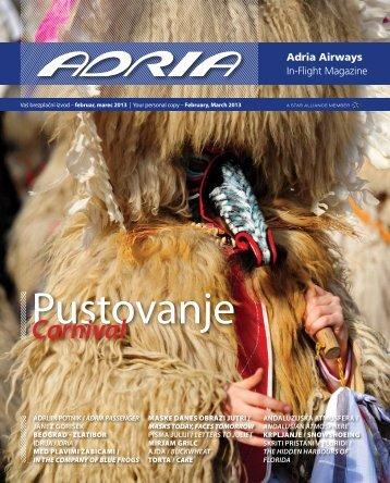 Februar, marec 2013 - Adria Airways