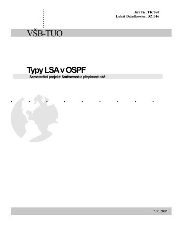 Typy LSA v OSPF