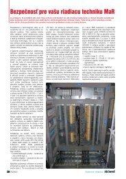 Bezpečnosť pre vašu riadiacu techniku MaR - ATP Journal