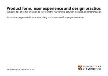 Product form, user experience and design practice - EDC