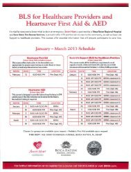 BLS for Healthcare Providers and Heartsaver First Aid 81 AED