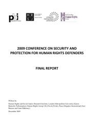2009 conference on security and protection for human rights ... - PBI