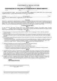 UNIVERSITA' DEGLI STUDI - Ingegneria per l'Ambiente e il Territorio