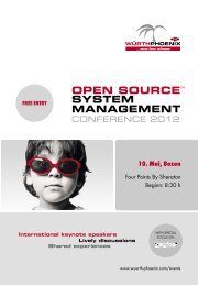 Die Open Source System Management Conference ... - Würth Phoenix