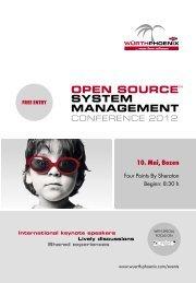 Die Open Source System Management Conference ... - Würth Phoenix