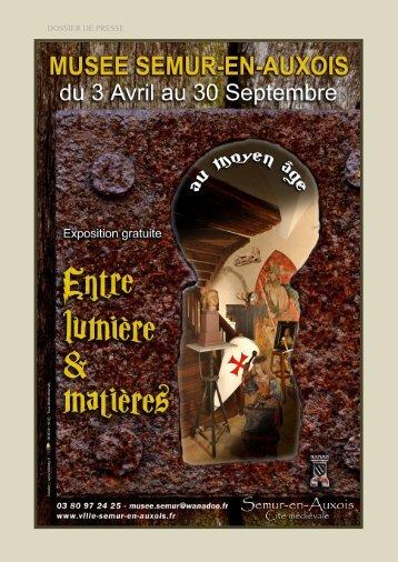 DOSSIER DE PRESSE - Musées de Bourgogne