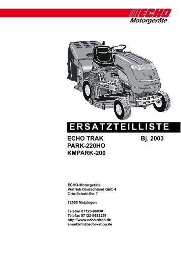 Ersatzteilliste PARK 220HO - Gartentechnik-Bremen