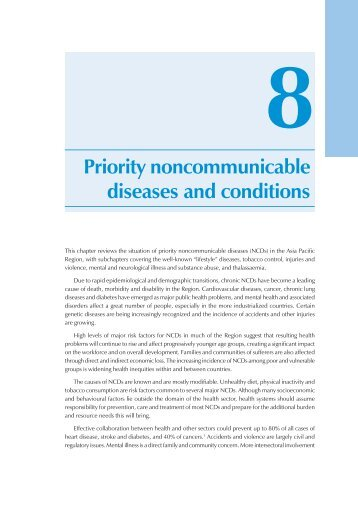 Priority noncommunicable diseases and conditions - WHO Western ...