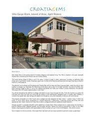 Villa Carpe Diem, Island of Brac, Split Riviera - Croatia Gems
