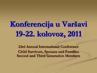 Konferencija u Varšavi 19-22.kolovoz, 2011 - CENDO