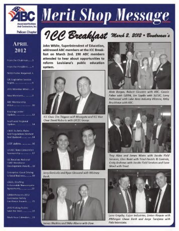 April 2012 Newsletter - ABC