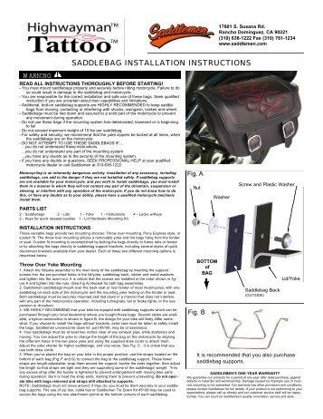 saddlebag installation instructions - Saddlemen