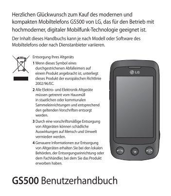 GS500 Benutzerhandbuch - Altehandys.de