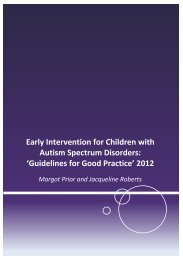 Early Intervention for children with Autism Spectrum Disorder