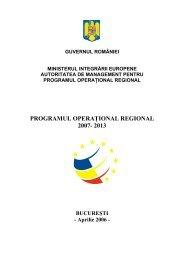 varianta draft aprilie 2006 - Fonduri Europene Nerambursabile