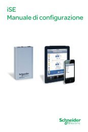 iSE Manuale di configurazione - Schneider Electric