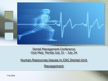 Human Resources Issues in CHC Dental Unit Management, by ...