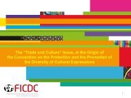 """The """"Trade and Culture"""" Issue, at the Origin"""