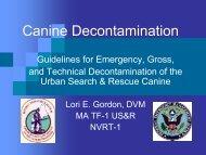 Canine Decontamination - the CSEPP Portal