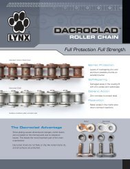 Lynx Dacroclad Product Flyer (PDF) - McGuire Bearing Company