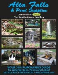 WatEr GardEninG - Alta Falls & Pond Supplies