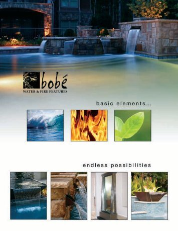 Color Selection & Standard Sizes - Bobe Water & Fire Features