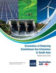 Economics of Reducing Greenhouse Gas Emissions in South Asia ...